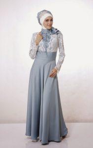 baju pesta muslimah anggun model terbaru